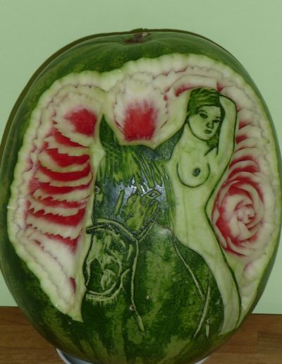 Watermelon carved 10