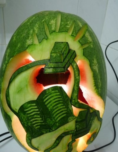 Watermelon carved 13