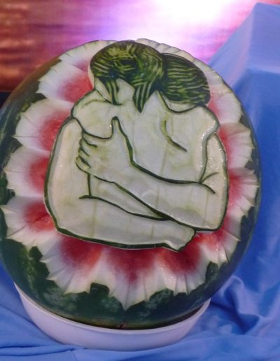 Watermelon carved 15