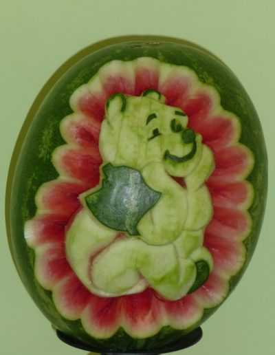 Watermelon carved 2