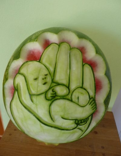 Watermelon carved 28
