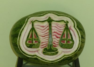 Watermelon carved 6