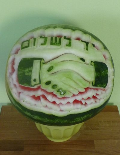 Watermelon carved 9